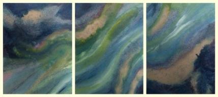 Wasserlauf Triptychon