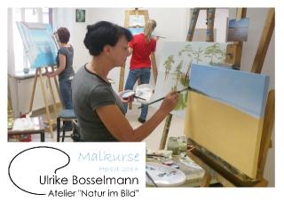 """Malkurse im Atelier \""""Natur im Bild\"""""""