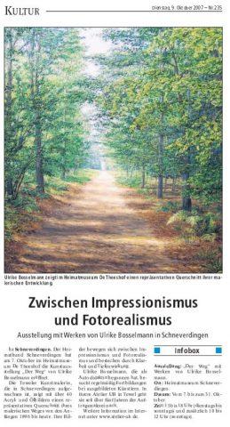 Bericht in der Böhme-Zeitung am 09.10.2007