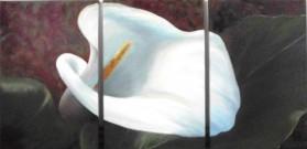 """Calla-Triptychon"" Acryl, 60x40, 60x80, 60x40 cm (2012)"