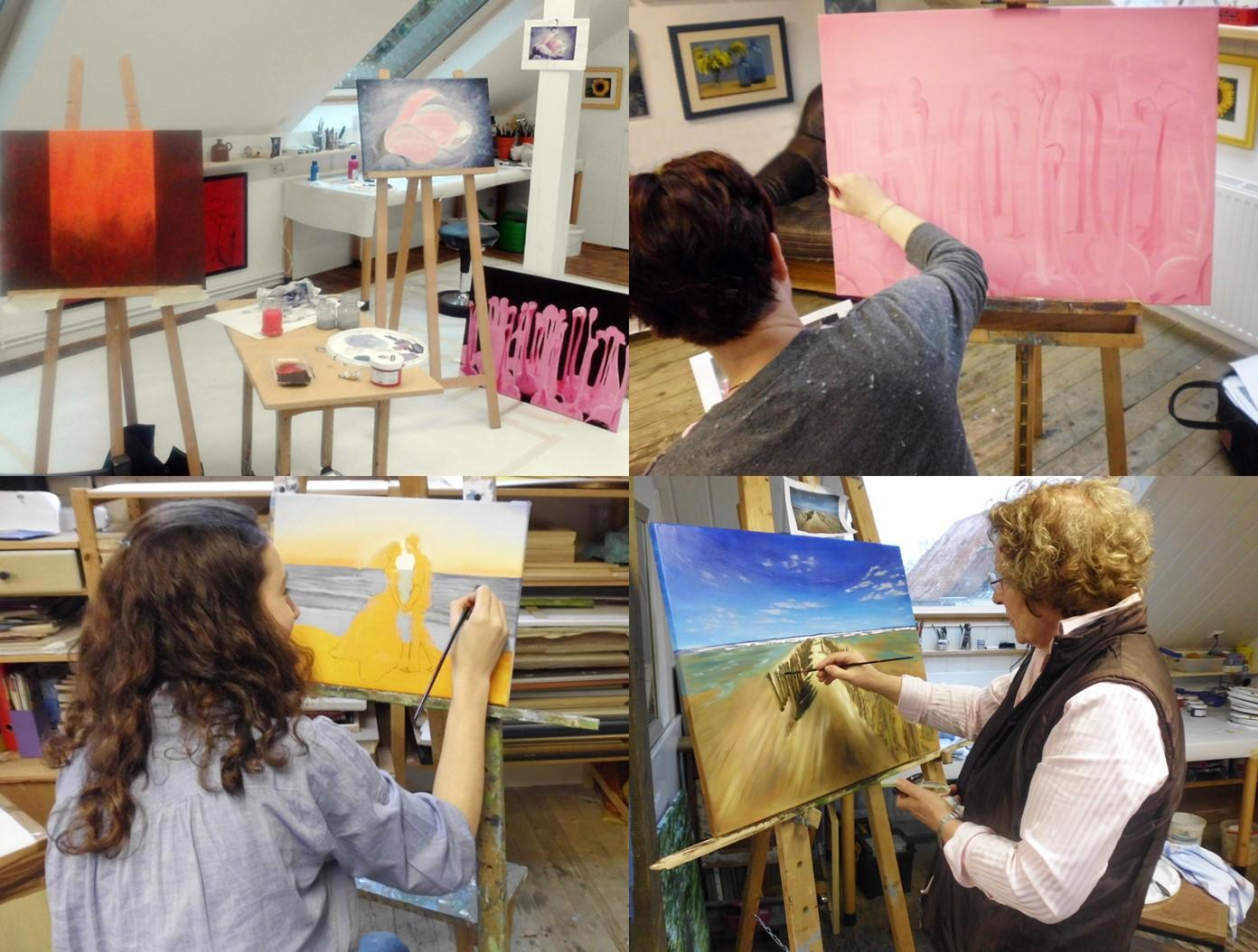 Malen im Atelier 2013