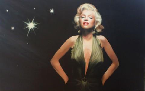"""""""Marilyn"""" Acryl, 100 x 160 cm (2014) - verkauft -"""